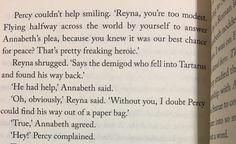 Reyna Ramirez  Annabeth Chase Percy Jackson  House of Hades