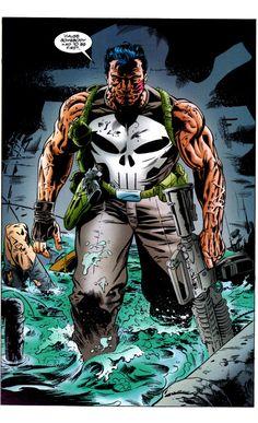 thecomicsvault:Punisher Kills The Marvel UniverseArt by Doug BraithwaiteWords by Garth Ennis