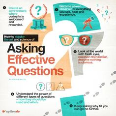 How Do You Master The Art And Science Of Asking Effective Questions? #infographic