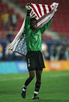 Briana Scurry...what a true women's goalie should be unlike the one we have now.