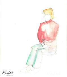 Nicolas Cazanave - Woman sitting #sketch #thedailysketch #draw365 #lifedrawing #modelevivant #atelier des #beauxarts de la ville de #Paris