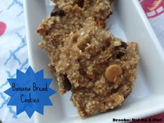 Banana Bread Cookies by Brooke: Not on A Diet! Super simple and healthy! #weightwatchers
