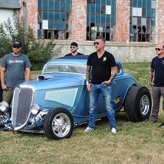 A blue build outa @gasmonkeygarage? Whatcha ya think? or • • #gasmonkey #ford #classics #auto #cars #choptop #hotrod #fastnloud