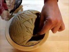 Keramik Windlicht molde debajo, como peruanos con piedra