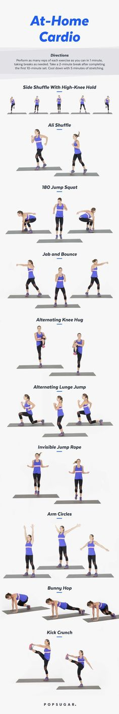 This cardio workout is killer - better than running.This cardio workout is killer - better than running quick diet butt workouts Fitness Workouts, Training Fitness, Fitness Gym, Lower Ab Workouts, Easy Workouts, Fitness Plan, Cardio Workouts, Strength Training, Hiit