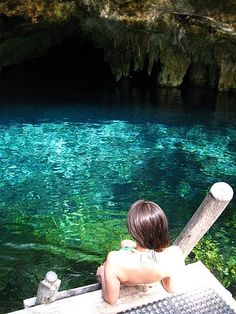 Cenotes in Riviera Maya - our only off-resort excursion during my time in Mexico, so cool and totally worth it! -M.