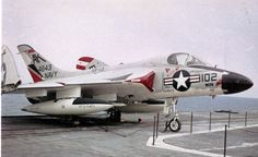 Douglas F4D Skyray from squadron VF-13 on static display.