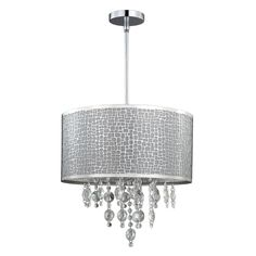 Canarm ICH394A04CH9 4 Light Benito Chandelier Large Pendant