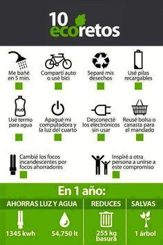 Te atreves a concretar estos retos? #ecoretos #medioambiente #parcelas #naturaleza #ecología #planeta #cuidaelplaneta #infografia #pinterest #lifestyle #enjoy #amor #ambiente #chile