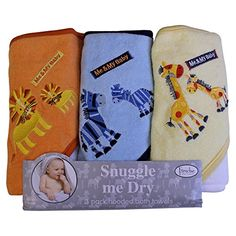 Animal Hooded Bath Towel Set 3 Pack Frenchie Mini Couture multi ** See this great product.-It is an affiliate link to Amazon.