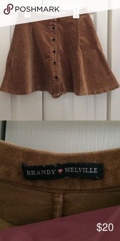 Brandy Melville suede skirt Button up suede Brandy skirt Brandy Melville Skirts Circle & Skater