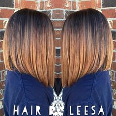 Caramel & Copper A-Line Long Bob