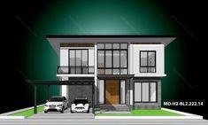 รหัสแบบ: MO-H2-BL2.222.14 บ้านสไตล์: แบบบ้านสองชั้น Modern    สเปคแบบขนาดพื้นที่ จำนวน: 2 ชั้นพื้นที่ใช้สอย: 222 ตารางเมตร ห้องนอน: 4 ห้องขนาดที่ดิน: 68 ตารางวา ห้องน้ำ: 3 ห้องที่ดินกว้าง: 16.50 เมตร ที่จอดรถ: 2 คันที่ดินลึก: 16.50 เมตร      ราคาก่อสร้าง 3.11 ล้าน: CON SPEC 3.80 ล้าน: METAL SPEC House Plans, Floor Plans, Mansions, House Styles, Home Decor, Decoration Home, Manor Houses, Room Decor, Villas