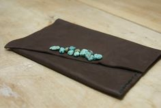 Turquoise Pouch by HollyHawkDesigns on Etsy, $20.00