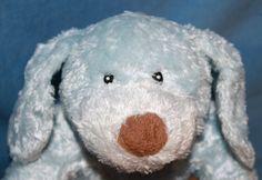 """Baby Gund My First Puppy Dog Blue plush 58252 Satin Tummy Feet soft Toy 12"""" #BabyGund"""