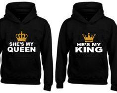 Pareja con capucha rey y Reina que empareja su y por CheaperChoice