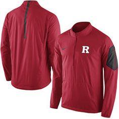 Men's Nike Scarlet Rutgers Scarlet Knights 2015 Football Coaches Sideline Half-Zip Wind Jacket