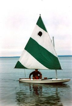 Vintage photo - sailing a Sunfish
