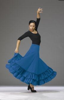 46b32c53f96d FL-10 Royal Flamenco Skirt $63.00 Spanish Dancer, Spanish Dress, Flamenco  Dancers,