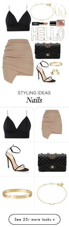"""Hello"" by elizmcd on Polyvore featuring Gianvito Rossi, Chanel, Cartier, Lana, Maya Magal, Graham & Brown, NYX and Bobbi Brown Cosmetics"