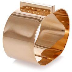 Dsquared2 Brass Bracelet ($78) ❤ liked on Polyvore featuring jewelry, bracelets, gold, brass jewelry, dsquared2 and brass bangles