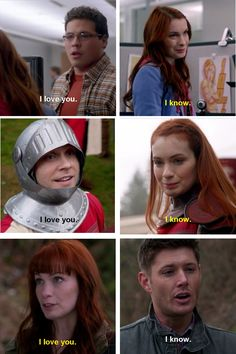 """Supernatural - [7x20 The Girl with the Dungeons and Dragons Tattoo, 8x11 LARP and the Real Girl, 8x20 Pac-Man Fever] - Charlie and her Han Solo """"I love you."""" """"I know."""" theme."""