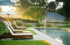 In Good Taste: October 2013 - Doyle Herman Modern Landscape Design, Traditional Landscape, Modern Landscaping, Pool Landscaping, Outdoor Spaces, Outdoor Living, Living Haus, Rectangular Pool, Classic Garden