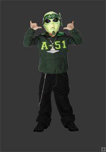 Gangster Martian Alien Child Halloween Costume