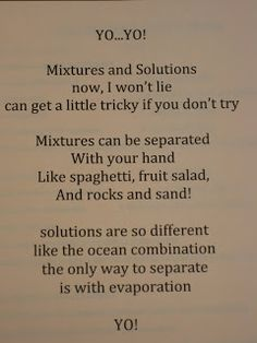 More mixtures & solutions activities