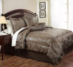 Hearth Bedding - Jacquard Woven Scroll Bedding