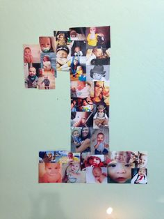 He's 1 photo collage for his first birthday.