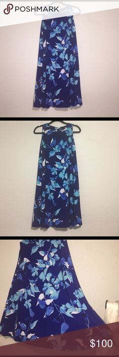 NWT Ralph Lauren Dress Blue flowery Ralph Lauren dress! New with tags and in perfect condition ! Size 6 ! Ralph Lauren Dresses