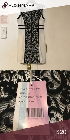 NWT Rendezvous Black & White Lace Dress Black & White Form Fitting Lace Dress. Polyester, Spandex, Cotton, & Nylon. Machine Washable. Rendezvous Dresses Midi
