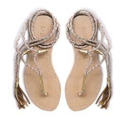 L*Space Cocobelle Gili Ankle Wrap Sandals Nib