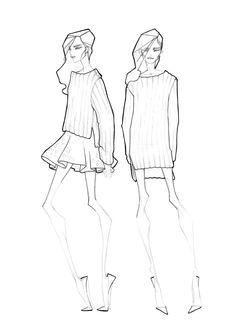 Fashion illustration - fashion design sketches; fashion drawings // Milan Zejak