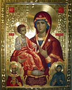 Religious Images, Religious Icons, Religious Art, Greek Icons, Images Of Mary, Christian Artwork, Sainte Marie, Blessed Mother Mary, Byzantine Icons