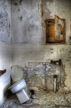 Photographed in an abandoned psychiatric hospital. karenjohnsonphotography.wordpress.com