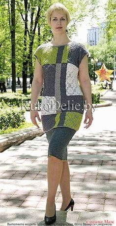 Popular Crochet Little Black Dress Tutorial - Craft & Patterns Crochet Bodycon Dresses, Crochet Blouse, Crochet Baby Shoes, Crochet Clothes, Infinity Clothing, Fabric Flower Pins, Crochet 101, Easy Crochet Projects, Knit Fashion