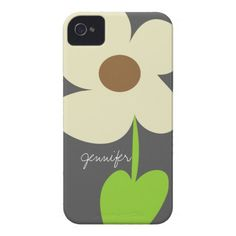 Zen Daisy Personalized iPhone 4/4S Case-Mate Case Case-Mate iPhone 4 Case