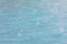Snowflakes, Water, Pool, Teal, Turquoise, Blue, Winter, Abstract, Snow, Wall Art, Ready to hang, Landscape
