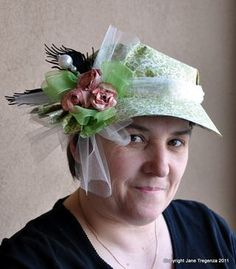 Beautiful Jane Tregenza in her beautiful spring hat! From our Scrapbook Adhesives Blog Hop #graphic45