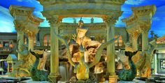 The Forum Shops at Caesars Palace--if you love to shop this is one of the best locations in Las Vegas to do that. Plus, check out a number of premier restaurants and even a gigantic aquarium! At the heart of the Las Vegas Strip.