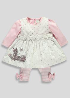 9127aafa1c5 Girls Disney Bambi Dress and Top Set (Newborn-18mths) - Matalan Cute Baby