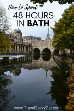 All the top things to see and do in 48 hours – and the best places to eat during your two days – in the town of Bath in the United Kingdom (UK).  Great for a weekend trip from London!