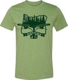 Mountain Bike T-shirt-BIKE OREGON-Bicycle T-shirt by SpokeNwheelz