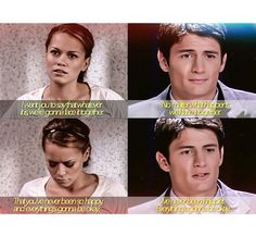 The day Nathan found out Haley was pregnant with Jamie <3