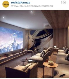 Basement Home Theater (basement ideas on a budget) Tags: basement idea. - Home Theater Rooms Home Theater Basement, Movie Theater Rooms, Home Cinema Room, Home Theater Decor, Home Theater Seating, Home Theater Design, Basement Ideas, Movie Rooms, Home Theatre Rooms