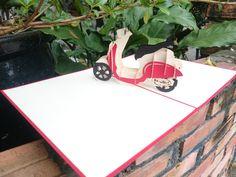 Vespa 3D Pop-Up Card Vespa, Wooden Toys, Pop Up, Transportation, 3d, Cards, Wasp, Wooden Toy Plans, Hornet