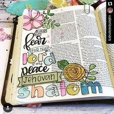 Another page in my collection of He is my peace. Worry & fear are things I struggle with frequently so I definitely need to be reminded of this truth. I'm gonna leave my Bible open to this page today to let it SINK in! Scripture Art, Bible Art, Bible Verses, New Bible, Daily Bible, Bible Study Journal, Art Journaling, Prayer Journals, Spirit Song