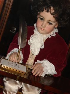 """The Writer~~This is an 18th-century automaton called """"The Writer"""", created by a Swiss watchmaker named Pierre Jaquet-Droz. (Photo credit: puppetmister, on Flickr.)"""